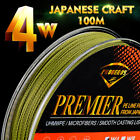 100M PE Braided Fishing Line 4 Stands 4 Weave 8LB-100LB Fishing Tackle Black Box