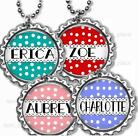 "Personalized Your Name Bottle Cap Necklace 24"" Chain Kids Bottle Cap Jewelry"