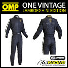 NEW! IA842 OMP ONE VINTAGE CLASSIC RACE SUIT AUTOMOBILI LAMBORGHINI EDITION