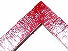 "1"" Deep Rabbet Red Rustic Ripple Canvas Picture Poster Frame-Standard Size"