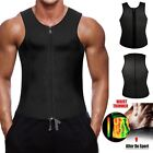 Men Workout Neoprene Vest Thermo Gym Sport T-Shirt Shaper Sweat Fat Burner UK