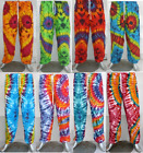 Mens Womens Tie-Dye Baggy Harem Pants Aladdin Hippie Trousers Alibaba Yoga New