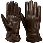 Winter Dress Gloves Soft Thermal Lined Women Dressing Real Leather Glove Brown