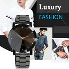 Unisex Men Womens Watch Crystal Stainless Steel Date Analog Quartz Wrist Watches