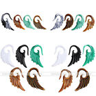 Fashion Resin Carved Wings Clip On Ear Cuff Earring Non Piercing Fashion Jewelry