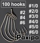 Lot 100pcs Strengthened Wide Gap Worm Hook Jig Fishing Crank Hook Bass Hook