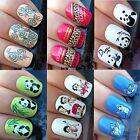 NAIL ART STICKERS WATER TRANSFERS DECALS PANDAS ROSES LEOPARD BETTY BOOP KITTEN $2.62 AUD