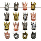 Crown King 8x12mm Solid Metal Bracelet Necklace Connector Charm Beads Silver