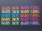 Baby Boy & Baby Girl Word Die Cuts - Assorted Colours in sets of 10