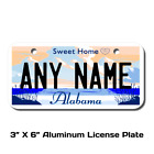 Personalized Alabama License Plate for Bicycles, Kid's Bikes, Atv's & cars Ver 2