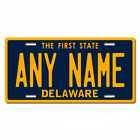 Personalized Delaware License Plate for Bicycles, Kid's Bikes & Cars Ver 1