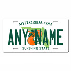 Personalized Florida License Plate for Bicycles, Kid's Bikes & Cars Ver 2