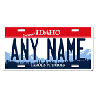 Personalized Idaho License Plate for Bicycles, Kid's Bikes & Cars Ver 1