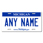 Personalized Michigan License Plate for Bicycles, Kid's Bikes & Cars Ver 1