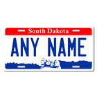 Personalized South Dakota License Plate for Bicycles, Kid's Bikes & Cars Ver 1