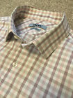 WORN ONCE DKNY PINK GINGHAM SHAPED SLIM FIT NATURAL STRETCH SHIRT 15.5 COST £140