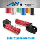 M-Grip Billet 25mm Rider Extended Foot Pegs Fit Ducati DIAVEL /CARBON 11 12 13