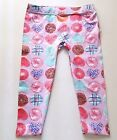 Girls TOUGHSKINS photo leggings 2T 3T or 4T NWT purple donuts birthday party cop