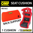 HB/662 OMP RACING SEAT BACK SUPPORT CUSHION (MEDIUM) with REMOVABLE HOOK & LOOP