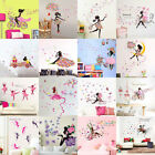 Fashion Mural Wall Sticker Removable Art Vinyl Decal DIY Home Flower Girl Decors