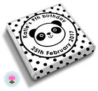 Personalised POLKA DOT PANDA Girl's Teens Birthday Party Bag Favour Chocolates