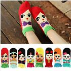 Women Cartoon Girls Princess Cotton Ankle Low Cut Socks Santa Claus Snowman Xmas