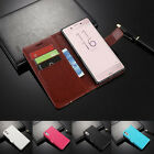 Ultra Slim Premium Leather Wallet Card Slot Flip Case Cover For SONY Xperia XZ