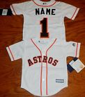 Huston Astros Cool Base MLB Majestic Youth  Replica Jersey add name & nmber