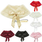 Girl Kid Toddler Bolero Shrug Jacket Coat Outwear Xmas Party Wedding Dress Shawl