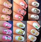 NAIL ART STICKERS WATER TRANSFERS DECALS SPONGE BOB PATRICK SNOOPY HAT HEART