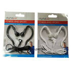 BLACK WHITE CLIP ON OVER THE EAR GYM JOGGING SPORT EARPHONES HEADPHONES I PHONE