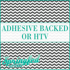 Dark Grey & White Chevron Pattern #1 Adhesive Vinyl or HTV for Crafts or Shirts