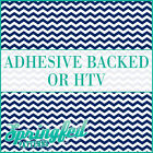 Navy Blue & White Chevron Pattern #1 Adhesive Vinyl or HTV for Crafts Shirts