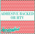 Red & White Chevron Stripes Pattern #1 Adhesive Vinyl or HTV for Crafts Shirts