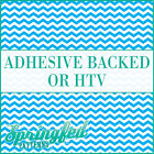 Sky Blue & White Chevron Pattern #1 Adhesive Vinyl or HTV for Crafts Shirts