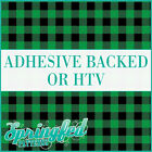 Green Buffalo Plaid Pattern Adhesive Craft Vinyl or HTV for Crafts or Shirts!