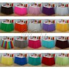 5Pcs Handmade Tulle Tutu Table Skirt for Wedding Party Baby shower Decorations