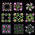 Anemone Quilt Squares 4 Machine Embroidery Designs CD-36 Anemone Designs-4 sizes