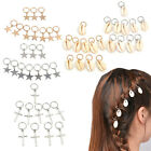 10 Pcs Women Star Cross Shell Hoop Dreadlock Dreads Updo Hair Pin Clips Barrette