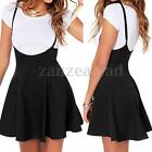 Women A Line Braces Skirt Overall Strappy Party Pleated Mini Short Dress Skirts