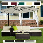 5pc Rattan Wicker Garden Furniture Sofa Set Or 3m Garden Banana Hanging Parasol