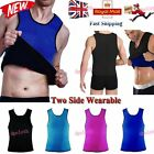 Ultra Sweat Belly Tops Vests Sleeveless 2 Sides Wearable Design Sauna Shaper UK