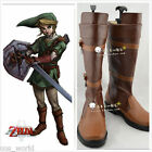 The Legend of Zelda Link Anime Brown Costume Shoes Customized Cosplay Boots