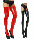 Wild Sexy Women's Patent Leather Stockings Legwear Stretchy Non-slip Long Socks