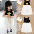 Baby Kids Girls Stars Sequins Tulle Tutu Dress Bowknot Princess Skirt One-Piece