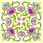 Anemone Quilt Squares 4-DESIGN 5-an Anemone Machine Embroidery single in 4 sizes