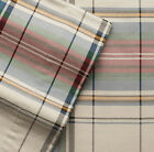 Cuddl Duds HOLIDAY PLAID Heavy Weight 5oz Cotton FLANNEL Sheet Khaki Multi-Color