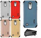 For LG Aristo Rubber IMPACT CO HYBRID Case Skin Phone Cover Accessory