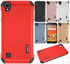 For LG X Style L56VL L53BG Rubber IMPACT CO HYBRID Case Skin Phone Cover