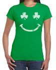 107 Irish Smile womens T-shirt smiley face Ireland St. Patricks Day party beer